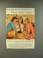 1959 7-Up Soda Ad - Fresh, Clean Taste!