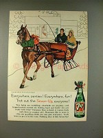 1960 7-up Soda Ad - Trot Out Seven-Up Everyone!