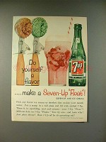 1961 7-up Soda Ad - Do Yourself a Flavor!