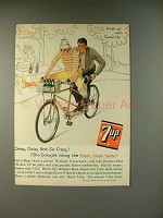 1961 7-up Soda Ad - Daisy, Daisy Not-so-Crazy!