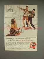 1960 7-up Soda Ad - However You Rock-and-Roll