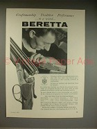 1961 Beretta Shotgun Ad - Craftsmanship, Tradition