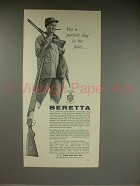 1961 Beretta Shotgun Ad - Perfect Day in the Field