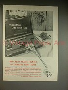 1961 Colt Frontier and Buntline Scout Revolver Gun Ad