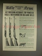 1961 Remington 742C, 760C, 725 Rifle Ad - Precision