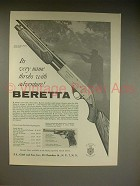 1962 Beretta 12 Gauge Golden Pigeon Shotgun Ad!
