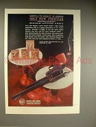 1962 Colt New Frontier Single Action Army Revolver Ad