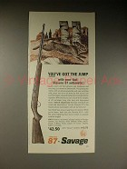 1962 Stevens 87 Automatic Rifle Ad - Got the Jump