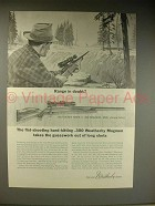 1963 Weatherby Mark V .300 Magnum Rifle Ad!