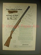 1963 Browning Superposed Shotgun Ad - Block of Walnut