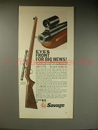 1963 Savage Model 63 rifle Ad - Eyes Front Big News