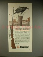 1963 Savage 4-M Rifle Ad - Something to Crow About