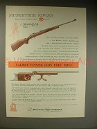 1963 Firearms International Musketeer Rifle Ad