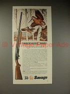 1964 Savage 30 Shotgun Ad - Timberdoodle Dandy!