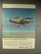 1964 Armco Steel Ad w/ XV-5A Jet Plane - Hover