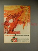 1964 Seven 7-Up Soda Ad - Cheerleaders