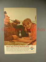 1964 Pepsi-Cola Soda Ad - Pepsi For Those Who Think Young