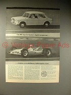 1964 MG Sports Sedan Car Ad - A.J. Foyt Indy Car