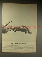 1964 Volkswagen VW Bug / Beetle Car Ad - Poops Out