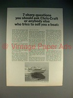 1965 Chris-Craft 33-Ft. Cavalier Boat Ad - 7 Questions