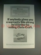 1965 Chris-Craft 38-Ft Constellation Salon Boat Ad