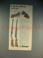 1965 Savage 24-DL, 24-S Shotgun Ad - Most Useful Gun?