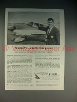 1965 Piper Cherokee C Ad - You Can Fly This Plane!