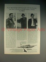 1965 Piper Twin Comanche Plane Ad - Lots of Money?