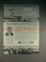 1965 Lear Jet Ad - Sets New World Records!