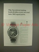 1965 Bulova Accutron Spaceview Model H Watch Ad!