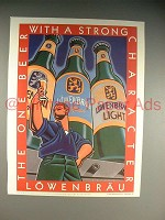 1990 Lowenbrau Beer Ad - Strong Character