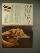 1965 2-pg Parker 75 Pen Ad - Think Twice About Giving