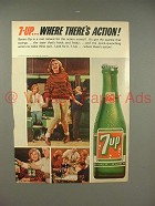 1965 Seven 7-up Soda Ad - Where There's Action!