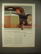 1965 Mercedes-Benz 220S Car Ad - Ride Higher in Spirit