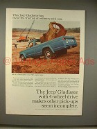 1965 Jeep Gladiator Pickup Truck Ad - Twice Traction