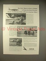 1966 Piper Plane Ad - Don't Have to Own to Enjoy!