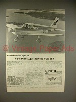 1966 Piper Cherokee C Plane Ad - Just For The Fun of It