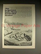1966 Smith & Wesson .38 Chief's Special Revolver Ad