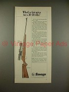 1966 Savage 340-V Rifle Ad - Fair Price for 30-30