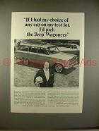 1966 Jeep Wagoneer Ad w/ Tom McCahill - My Choice