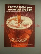 1967 Coca-Cola Soda Ad - Never Get Tired Of!