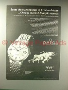 1967 Omega Seamaster Date-Telling Automatic Watch Ad