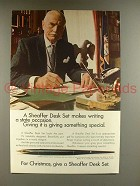 1967 Sheaffer's Desk Set Pen Ad - A State Occasion