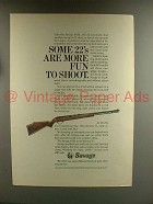 1967 Savage 6-DL Rifle Ad - More Fun to Shoot