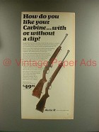1967 Marlin Model 989 M2, Model 99 M1 Carbine Rifle Ad