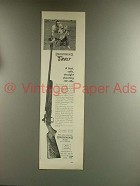 1967 Browning T-Bolt Rifle Ad - Straight Shooting .22