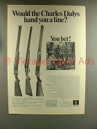 1967 Charles Daly Shotgun Ad - Field, Empire, Hunter