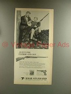 1967 High Standard .22 Rifle Ad - Fun for Father Son