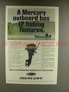 1968 Mercury Outboard Motor Ad - 12 Fishing Features