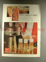 1968 Miller High Life Beer Ad - Miller Makes it Right